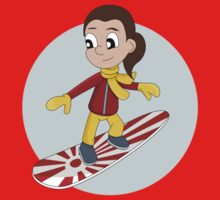Snowboarding girl cartoon by Radka Kavalcova