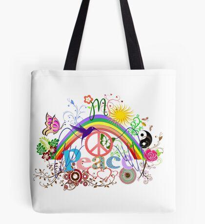 Peace - Colorful Mash-up Tote Bag