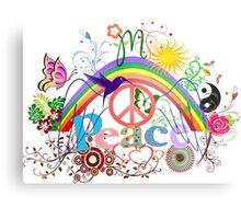 Peace - Colorful Mash-up Metal Print