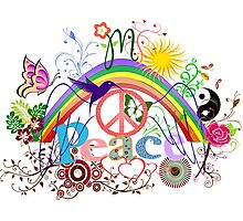 Peace - Colorful Mash-up Photographic Print