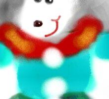 DOLORES LOVES THE WINTER SNOW TEE SHIRT/KIDS TEE/STICKER Sticker