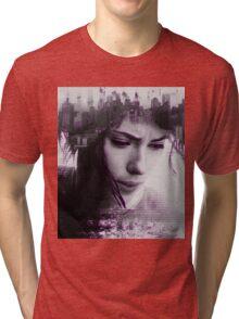 Motoko Kusanagi Tri-blend T-Shirt