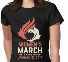 Womens March On Washington Womens Fitted T-Shirt