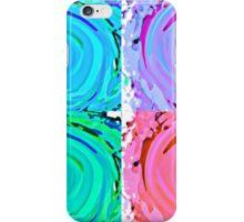 Water Colour Waves Pop Art  iPhone Case/Skin