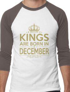 KINGS ARE BORN IN DECEMBER Men's Baseball ¾ T-Shirt