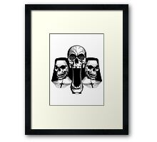 Priest With Nuns Skulls Framed Print