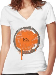 Getting  Women's Fitted V-Neck T-Shirt