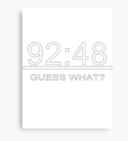 92:48 Guess what? iHalaMadrid! Canvas Print