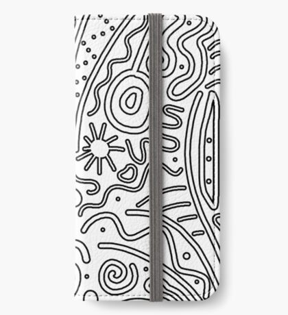 White and black decor iPhone Wallet/Case/Skin