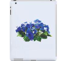 Dark Blue Hydrangea Lace Cap Hydrangea iPad Case/Skin