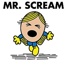 Mr. Scream Photographic Print