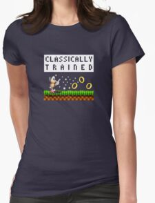Classically Trained: Sonic Womens Fitted T-Shirt