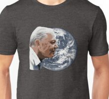 David Attenborough smiles over planet earth Unisex T-Shirt
