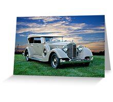 1934 Packard Dual Cowl Phaeton Greeting Card