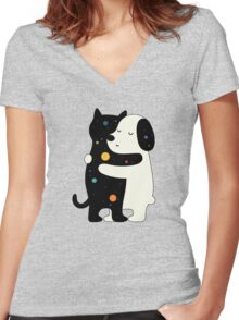 Universal Language Women's Fitted V-Neck T-Shirt
