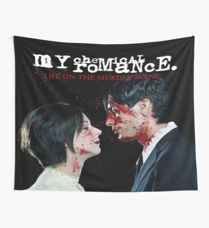 Life On The Murder Scene Flag Wall Tapestry
