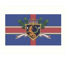 The Holy Empire of Britannia Flag Art Print