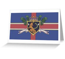 The Holy Empire of Britannia Flag Greeting Card