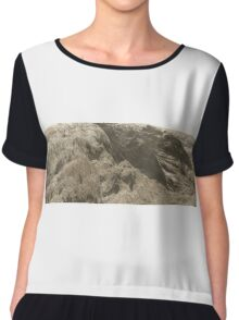 Desertification - talking landscapes Chiffon Top