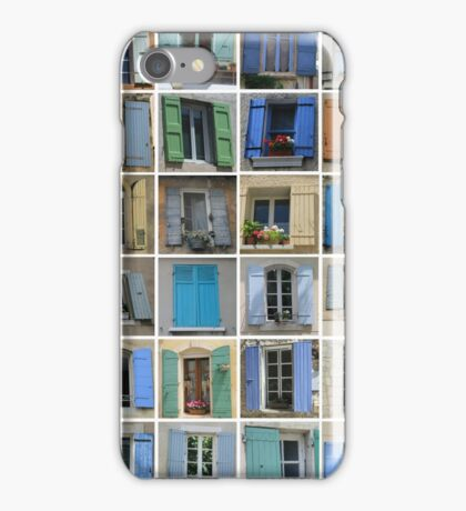 Windows of the Provence by ProvenceProvence iPhone Case/Skin
