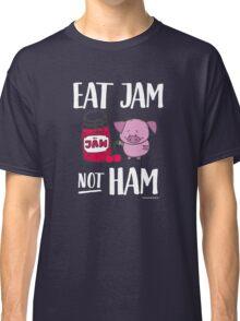 "Funny Vegan Pig - ""Eat Jam Not Ham"" Classic T-Shirt"