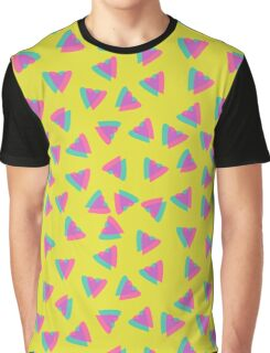 3d immitation heart pattern on retro yellow background Graphic T-Shirt