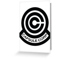 The Capsule Corporation logo Greeting Card