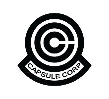 The Capsule Corporation logo Photographic Print