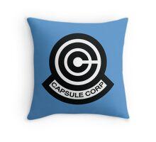 The Capsule Corporation logo Throw Pillow
