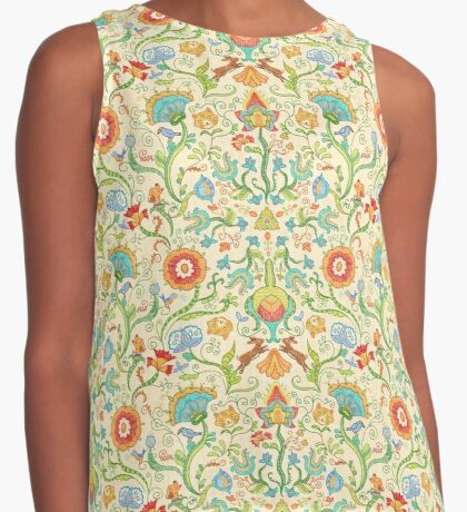 Embroidery Fantasy Contrast Tank