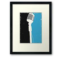 Retro Microphone Framed Print