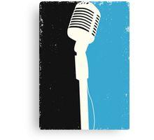 Retro Microphone Canvas Print