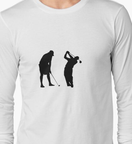 Golfers in Action  Long Sleeve T-Shirt