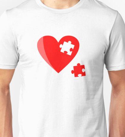 Puzzle heart 1 Unisex T-Shirt