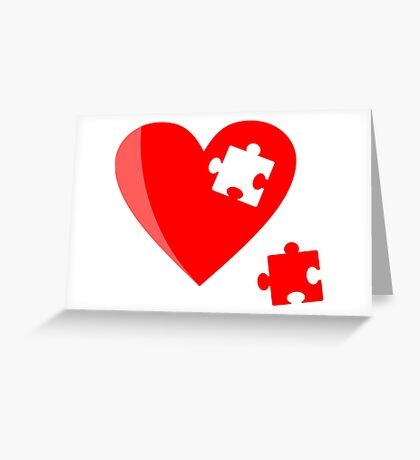 Puzzle heart 1 Greeting Card