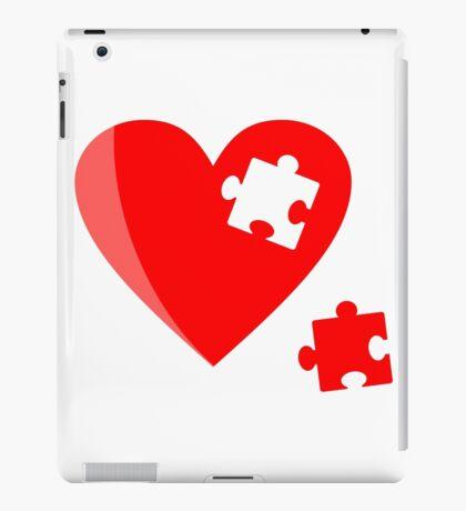 Puzzle heart 1 iPad Case/Skin
