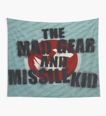 The Mad Gear and Missile Kid Flag Wall Tapestry