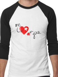 Puzzle heart 2 Men's Baseball ¾ T-Shirt