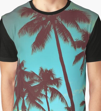 Vintage Tropical Palms Graphic T-Shirt