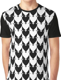 Black and white hearts  Graphic T-Shirt