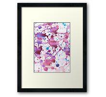 Water Colour Paint Splatter Framed Print