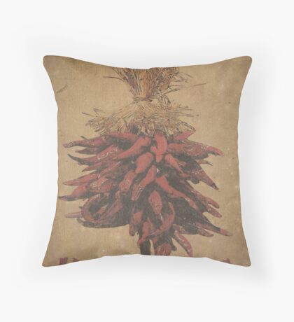 A very warm welcome - old board Throw Pillow