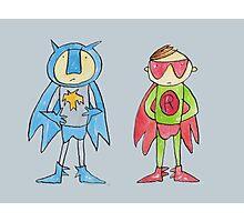 Batman and Robin Superheroes Photographic Print