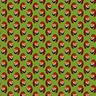 Red Panda Pattern by SaradaBoru