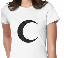 Crescent Moon Womens Fitted T-Shirt