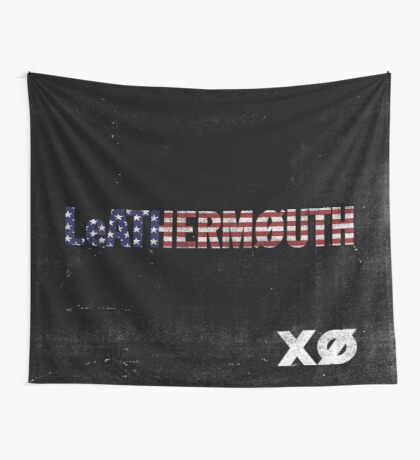 Leathermouth - XO Flag Wall Tapestry