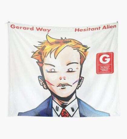 Hesitant Alien Flag (Version 2) Wall Tapestry