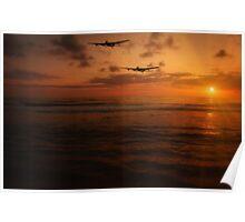 Sunset Lancaster Bombers Poster