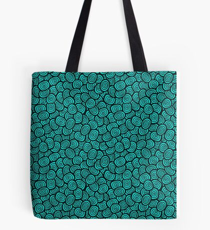 Blue circle seamless pattern. Simple doodle background. Vector illustration. Tote Bag