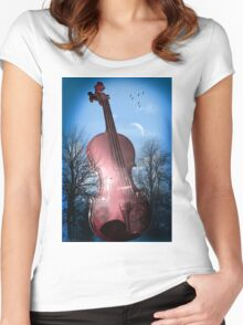 violin  Women's Fitted Scoop T-Shirt